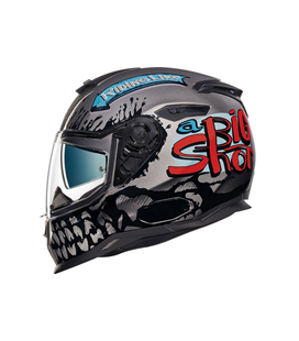 CASCO NEXX SX.100 BIG SHOT GRIS OSCURO
