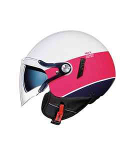 CASCO NEXX SX.60 VF SMART2 BLANCO ROSA