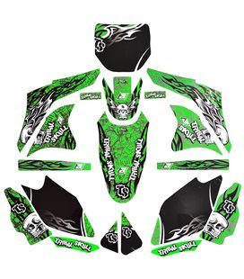 KIT ADHESIVOS BLACKBIRD TRIBAL SKULL KAWASAKI 2416B