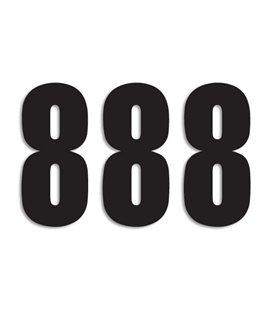 NUMEROS DE CARRERA NEGRO - PACK DE 3 UDS BLACKBIRD PVC 5047/20/8