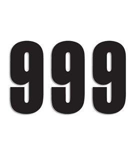 NUMEROS DE CARRERA NEGRO - PACK DE 3 UDS BLACKBIRD PVC 5047/20/9