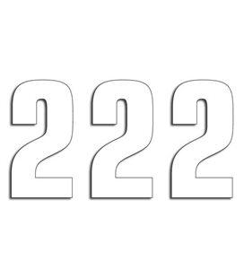 NUMEROS DE CARRERA BLANCO - PACK DE 3 UDS BLACKBIRD PVC 5048/10/2