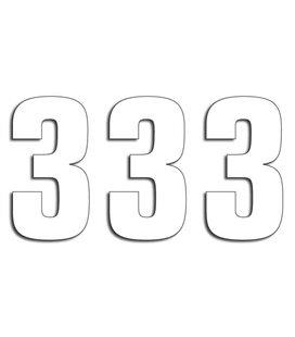 NUMEROS DE CARRERA BLANCO - PACK DE 3 UDS BLACKBIRD PVC 5048/10/3