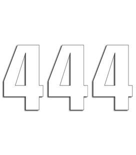 NUMEROS DE CARRERA BLANCO - PACK DE 3 UDS BLACKBIRD PVC 5048/10/4