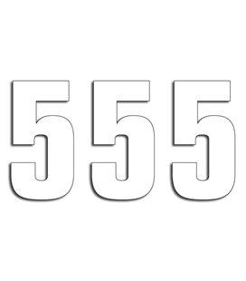 NUMEROS DE CARRERA BLANCO - PACK DE 3 UDS BLACKBIRD PVC 5048/10/5