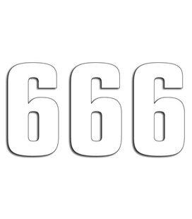 NUMEROS DE CARRERA BLANCO - PACK DE 3 UDS BLACKBIRD PVC 5048/10/6