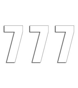 NUMEROS DE CARRERA BLANCO - PACK DE 3 UDS BLACKBIRD PVC 5048/10/7