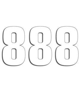 NUMEROS DE CARRERA BLANCO - PACK DE 3 UDS BLACKBIRD PVC 5048/10/8