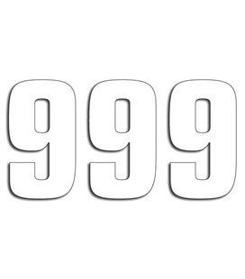 NUMEROS DE CARRERA BLANCO - PACK DE 3 UDS BLACKBIRD PVC 5048/10/9