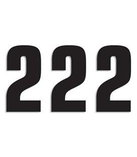 NUMEROS DE CARRERA NEGRO - PACK DE 3 UDS BLACKBIRD PVC 5048/20/2