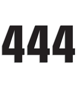 NUMEROS DE CARRERA NEGRO - PACK DE 3 UDS BLACKBIRD PVC 5048/20/4