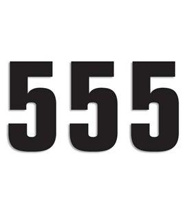 NUMEROS DE CARRERA NEGRO - PACK DE 3 UDS BLACKBIRD PVC 5048/20/5