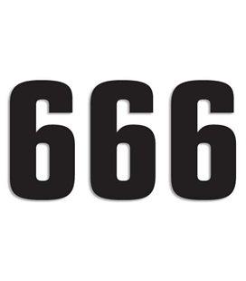 NUMEROS DE CARRERA NEGRO - PACK DE 3 UDS BLACKBIRD PVC 5048/20/6