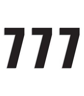 NUMEROS DE CARRERA NEGRO - PACK DE 3 UDS BLACKBIRD PVC 5048/20/7