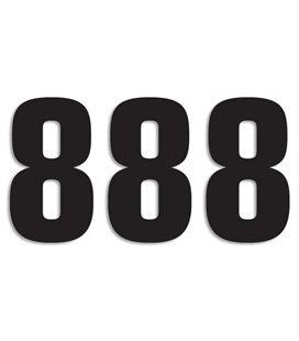 NUMEROS DE CARRERA NEGRO - PACK DE 3 UDS BLACKBIRD PVC 5048/20/8
