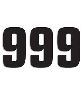 NUMEROS DE CARRERA NEGRO - PACK DE 3 UDS BLACKBIRD PVC 5048/20/9
