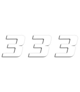 NUMEROS DE CARRERA BLANCO - PACK DE 3 UDS BLACKBIRD PVC 5049/10/3