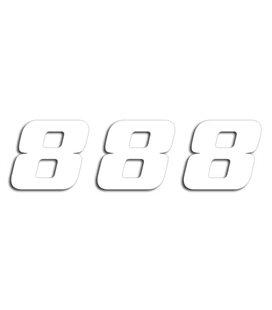 NUMEROS DE CARRERA BLANCO - PACK DE 3 UDS BLACKBIRD PVC 5049/10/8