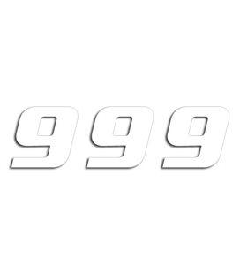 NUMEROS DE CARRERA BLANCO - PACK DE 3 UDS BLACKBIRD PVC 5049/10/9