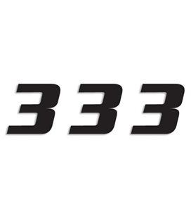 NUMEROS DE CARRERA NEGRO - PACK DE 3 UDS BLACKBIRD PVC 5049/20/3