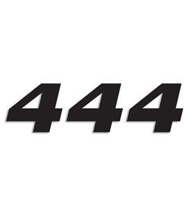 NUMEROS DE CARRERA NEGRO - PACK DE 3 UDS BLACKBIRD PVC 5049/20/4