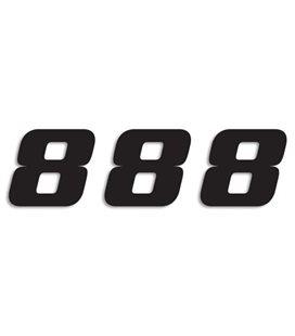 NUMEROS DE CARRERA NEGRO - PACK DE 3 UDS BLACKBIRD PVC 5049/20/8