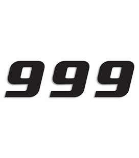 NUMEROS DE CARRERA NEGRO - PACK DE 3 UDS BLACKBIRD PVC 5049/20/9