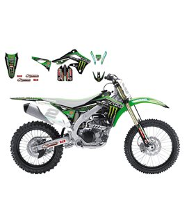 KIT ADHESIVOS BLACKBIRD RÉPLICA MONSTER KAWASAKI 2421R6
