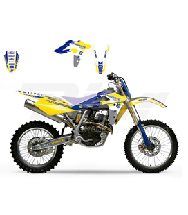 KIT ADHESIVOS BLACKBIRD DREAM AMARILLO HUSQVARNA 2605E/02