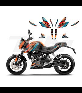 KIT ADHESIVOS BLACKBIRD KTM DUKE 2544R
