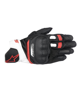 SP-5 GLOVES BLACK WHITE RED