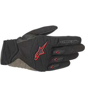 SHORE GLOVES BLACK RED