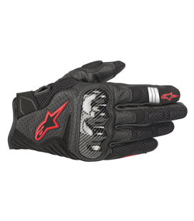 SMX-1 AIR V2 GLOVES BLACK RED FLUO