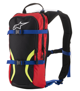 IGUANA HYDRATION BACKPACK BLACK BLUE RED YELLOW FLUO