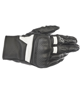 AXIS LEATHER GLOVE BLACK WHITE