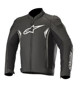 SP-1 V2 LEATHER JACKET BLACK DARK GRAY
