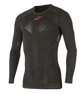 TECH TOP LS SUMMER BLACK RED