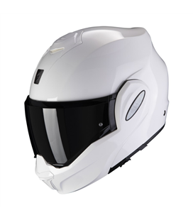 SCORPION EXO-TECH BLANCO BRILLO