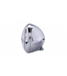 HIGHSIDER HIGHSIDER 7 INCH LED HEADLIGHT HD-STYLE TYPE 4, CHROME