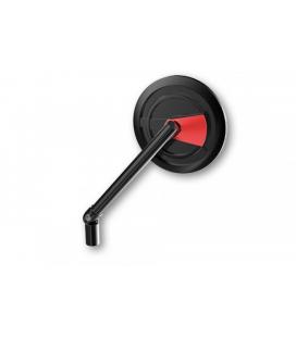 HIGHSIDER HIGHSIDER CNC HANDLEBAR MIRROR ENTERPRISE-EP1, BLACK / DARK RED