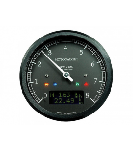 MOTOGADGET CHRONOCLASSIC REV COUNTER DARK EDITION -8.000 RPM