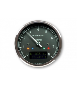 MOTOGADGET MOTOSCOPE CLASSIC REV COUNTER DARK EDITION 8.000 RPM
