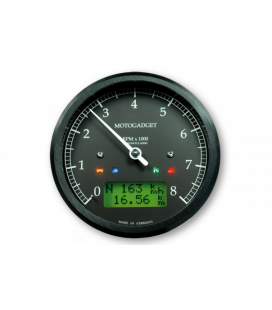 MOTOGADGET CHRONOCLASSIC REV COUNTER -8.000 RPM, GREEN LCD