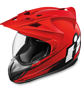 CASCO ICON VARIANT D-STACK ROJO
