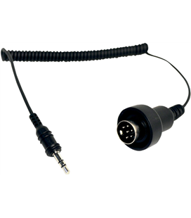 STEREO JACK 3.5MM TO 6-PIN DIN DUAL STREAM BLACK