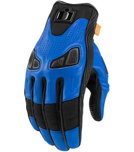 GUANTES ICON AUTOMAG 2 AZUL