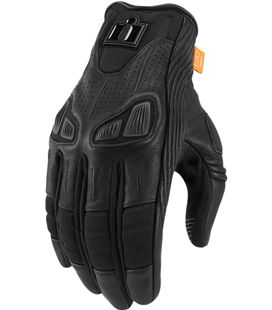 GUANTES ICON MUJER AUTOMAG 2 NEGRO
