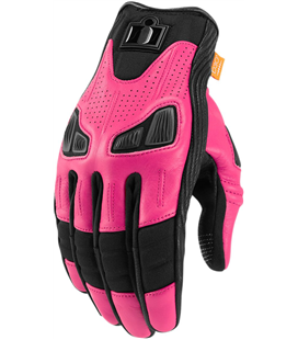 GUANTES ICON MUJER AUTOMAG 2 ROSA