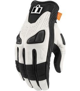 GUANTES ICON MUJER AUTOMAG 2 BLANCO