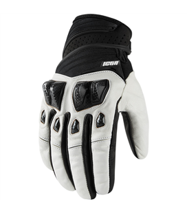 GUANTES ICON KONFLICT BLANCO